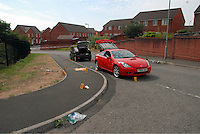 Pictured: Gwent Police handout picture of the police scene where the incident happened in Newport, south Wales<br />
