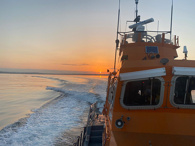 Ballycotton RNLI were involved in a multi agency search for a report of a boat on fire