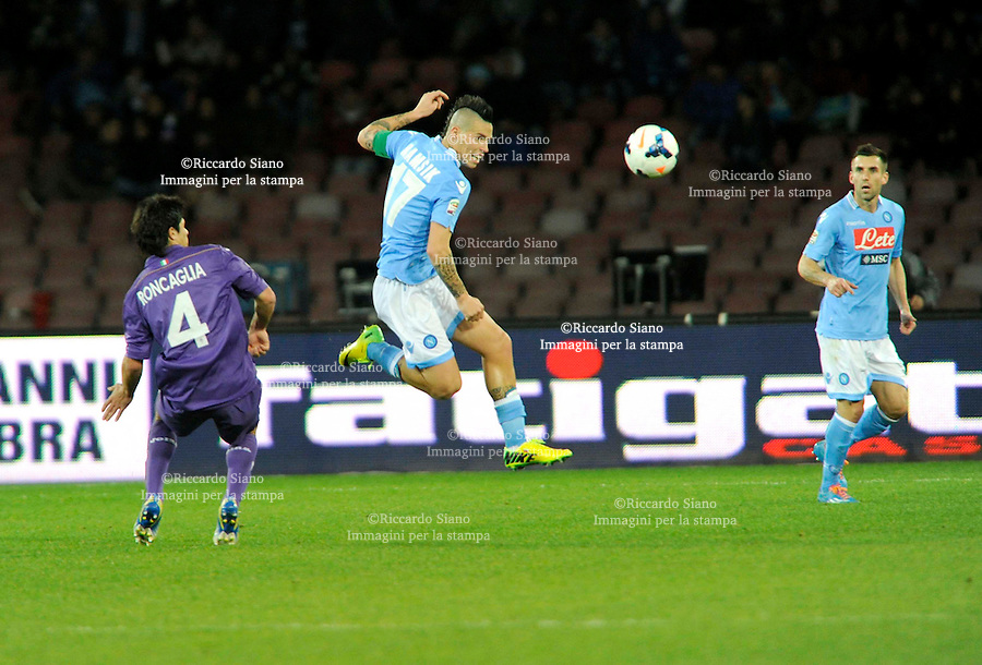 - NAPOLI 23 MAR  -  Stadio San Paolo    Napoli -  Fiorentina<br />  nella foto  hamsik e