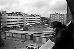 1970s poverty UK. Elderly oap black woman in her council estate flat. Hoxton London. England 70s