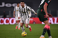 Cristiano Ronaldo of Juventus FC in action during the Serie A football match between Juventus FC and FC Crotone at Allianz stadium in Torino (Italy), February 22th, 2021. Photo Federico Tardito / Insidefoto