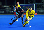 NZ's Jared Panchia chases Australia's Trent Mitton during the Sentinel Homes Trans Tasman Series hockey match between the New Zealand Black Sticks Men and the Australian Kookaburras at Massey University Hockey Turf in Palmerston North, New Zealand on Tuesday, 1 June 2021. Photo: Dave Lintott / lintottphoto.co.nz