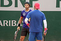 Paris, France, 04 ,10,  2020, Tennis, French Open, Roland Garros, Men's doubles Jean Julien Rojer (NED) (L) and Horia Tecau (ROU)<br /> Photo: Susan Mullane/tennisimages.com