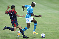 Victor Osimhen of SSC Napoli in action during the friendly football match between SSC Napoli and L Aquila 1927 at stadio Patini in Castel di Sangro, Italy, August 28, 2020. <br /> Photo Cesare Purini / Insidefoto