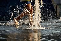 l'été a Montréal en aout 2021.<br /> <br /> 2021 est un été ponctué de vagues de chaleur extremes<br /> <br /> PHOTO : Agence Quebec Presse - Pierre Tran