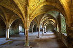 Great Britain, East Sussex, Battle: Battle Abbey, built on the site where Duke William of Normandy defeated King Harold 2nd at the Battle of Hastings, The Common Room (or warming house) which the Monks used for recreation or for working in cold weather