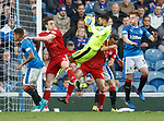 Wes Foderingham clutches the ball