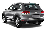 Car pictures of rear three quarter view of 2017 Volkswagen Touareg Executive 5 Door SUV Angular Rear