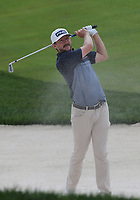 29th August 2021; Owens Mills, Maryland, USA;  Mackenzie Hughes (CAN) watches his shot from the bunker on the 9th hole during the final round of the BMW Championship on August 29, 2021, at Caves Valley Golf Club in Owings Mills, MD.