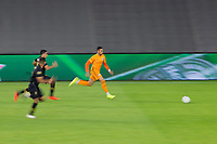 CARSON, CA - OCTOBER 28: Ariel Lassiter #11 of the Houston Dynamo in a Houston moves along the sideline with the ball during a game between Houston Dynamo and Los Angeles FC at Banc of California Stadium on October 28, 2020 in Carson, California.