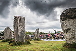 The peloton pass by Carnac during Stage 3 of the 2021 Tour de France, running 182.9km from Lorient to Pontivy, France. 28th June 2021.  <br /> Picture: A.S.O./Charly Lopez | Cyclefile<br /> <br /> All photos usage must carry mandatory copyright credit (© Cyclefile | A.S.O./Charly Lopez)