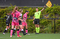 assistant referee Cedric Beheydt pictured during a female soccer game between Sporting Charleroi and Eendracht Aalst on the 8th matchday in play off 2 of the 2020 - 2021 season of Belgian Scooore Womens Super League , tuesday 18 th of May 2021 in Marcinelle , Belgium . PHOTO SPORTPIX.BE   SPP   STIJN AUDOOREN