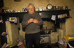 Great Tew Oxfordshire 1986. Local resident Frank Salt who lives in the Toll House.