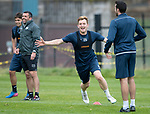 St Johnstone Training…22.09.17<br />Liam Craig pictured during training ahead of tomorrow's game against Hamilton as he wins a sprint race to avoid buying biscuits for the players next week!<br />Picture by Graeme Hart.<br />Copyright Perthshire Picture Agency<br />Tel: 01738 623350  Mobile: 07990 594431