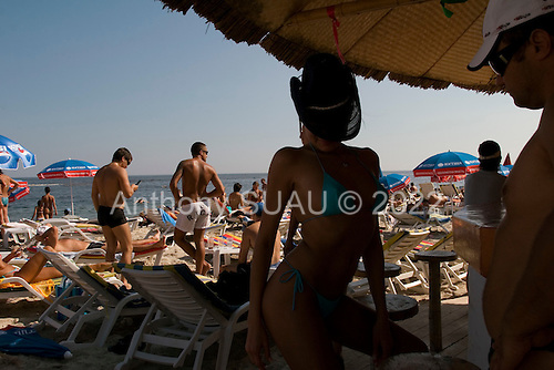Odessa, Ukraine<br /> August 27, 2005 <br /> <br /> The Riviera, a private beach where there is a fee to access the beach -  for the somewhat rich and famous.