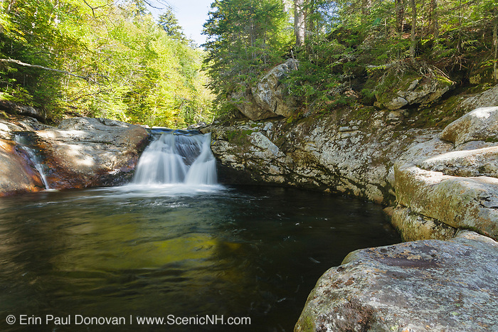 Dry River Falls in Cutts Grant of the New Hampshire White Mountains during the summer months. Dry River Falls is located along the Dry River near the Dry River Trail.