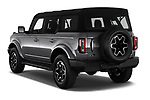 Car pictures of rear three quarter view of 2021 Ford Bronco Outer-Banks 5 Door SUV Angular Rear