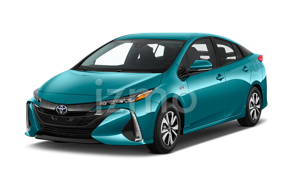 2019 Toyota Prius-Prime Plus 5 Door Hatchback Angular Front stock photos of front three quarter view