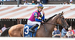 August 07, 2021: War Like Goddess #3, ridden by jockey Julian Leparoux wins the Glens Falls Stakes (Grade 2) on the turf at Saratoga Race Course in Saratoga Springs, N.Y. on August 7, 2021. Rob Simmons/Eclipse Sportswire/CSM