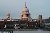 St Pauls Cathedral, London, at sunset.