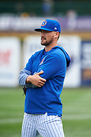 South Bend Cubs pitcher Peyton Remy (18) during a Midwest League game against the Cedar Rapids Kernels at Four Winds Field on May 8, 2019 in South Bend, Indiana. South Bend defeated Cedar Rapids 2-1. (Zachary Lucy/Four Seam Images)