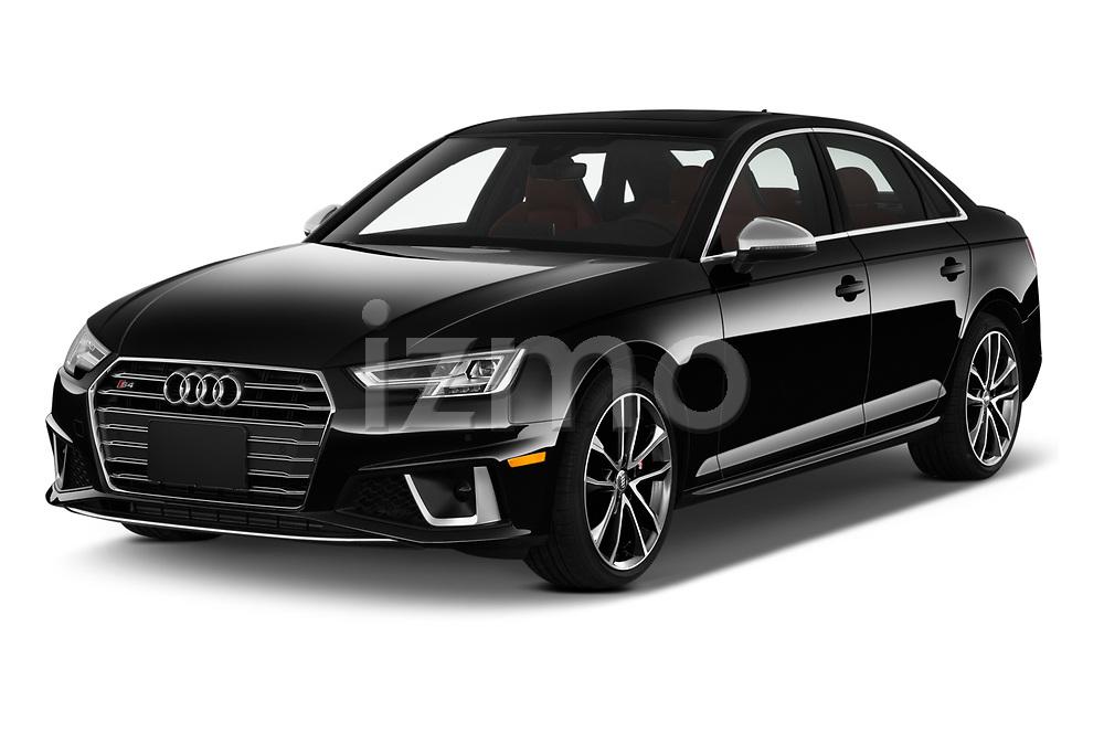 2019 Audi S4 Premium-Plus 4 Door Sedan Angular Front automotive stock photos of front three quarter view
