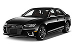 2019 Audi S4 Premium-Plus 4 Door Sedan Angular Front automotive stock photos of front three quarter view