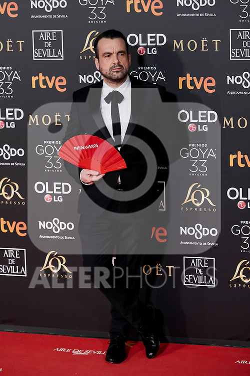 Nacho Vigalondo attends to 33rd Goya Awards at Fibes - Conference and Exhibition  in Seville, Spain. February 02, 2019. (ALTERPHOTOS/A. Perez Meca)