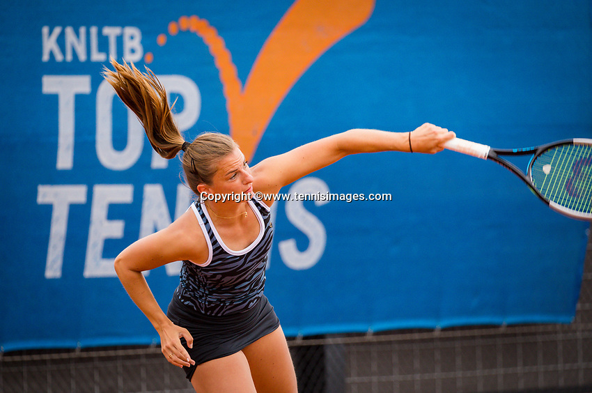 Amstelveen, Netherlands, 1 August 2020, NTC, National Tennis Center, National Tennis Championships, Women's double final:  Quirine Lemoine (NED).<br /> Photo: Henk Koster/tennisimages.com