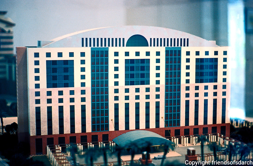 "Michael Graves: ""Aventine"" Model--14 story Hyatt Regency Hotel.  Photo '86."