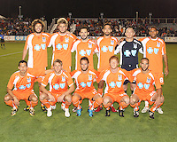 Starting lineup Of the Carolina Railhawks during the second leg of the USSF-D2 championship match against the Puerto Rico Islanders at WakeMed Soccer Park, in Cary, North Carolina on October 30 2010. Game ended 1-1, Islanders won the championship 3-1 on overall goals.