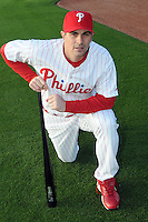 Feb 20, 2009; Clearwater, FL, USA; The Philadelphia Phillies catcher Paul Hoover (78) during photoday at Bright House Field. Mandatory Credit: Tomasso De Rosa/ Four Seam Images