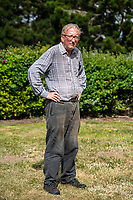 BNPS.co.uk (01202 558833)<br /> Pic: MaxWillcock/BNPS<br /> <br /> Robin Edmonds outside.<br /> <br /> <br /> A homeowner is at his wits end after being repeatedly attacked by violent seagulls.<br /> <br /> Robin Edmonds was forced to flee for cover from the 'vindictive' bird that dive-bombed him as he left his home.<br /> <br /> The 49-year-old has been left in fear about going outside and has even bought a special hat to protect him.
