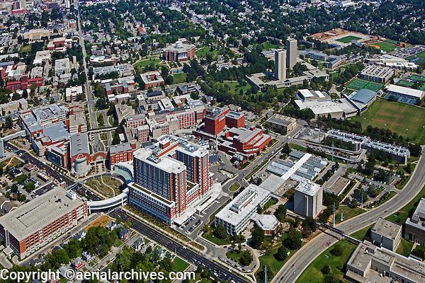 aerial photograph, Chandler Medical Center University of Kentucky, Lexington, Kentucky