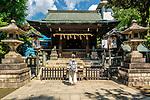 Gojoten Shrine in Ueno Park, Tokyo, Japan