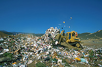 Sanitary landfill, waste disposal, county dump