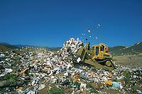 Sanitary landfill, waste disposal, county dump