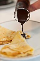 Europe/France/Rhône-Alpes/74/Haute-Savoie/Megève: Crêpes au chocolat, Recette de Philippe Zanchetta du Restaurant: L'Alpaga