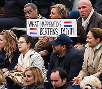 Paris, France, 01 June, 2016, Tennis, Roland Garros, Womans quarter final Kiki Bertens fans on the stands<br /> Photo: Henk Koster/tennisimages.com