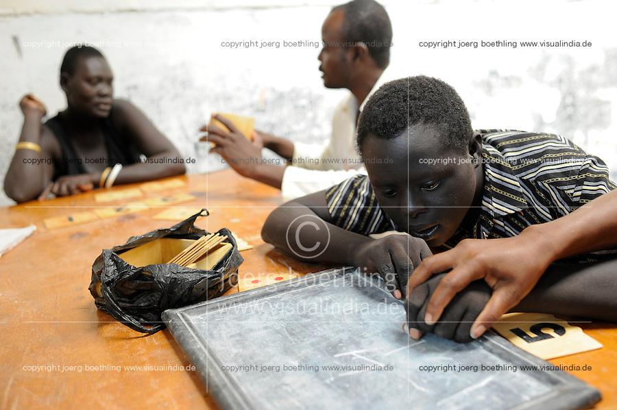 KENYA Turkana Region, refugee camp Kakuma, where 80.000 refugees live,  JESUIT REFUGEE SERVICE school and trauma counselling / KENIA Fluechtlingslager Kakuma in der Turkana Region , hier leben ca. 80.000 Fluechtlinge ,  JRS JESUIT REFUGEE SERVICE Schule und trauma counselling