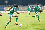 12.09.2020, Ernst-Abbe-Sportfeld, Jena, GER, DFB-Pokal, 1. Runde, FC Carl Zeiss Jena vs SV Werder Bremen<br /> <br /> Tahith Chong (Werder Bremen #22)<br /> Einzelaktion, Ganzkörper / Ganzkoerper <br /> Querformat<br /> <br /> <br />  <br /> <br /> <br /> Foto © nordphoto / Kokenge