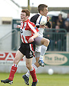 21/04/2007       Copyright Pic: James Stewart.File Name : sct_jspa02_gretna_v_clyde.RUARI MACLENNAN AND DANNY GRAINGER CHALLENGE.James Stewart Photo Agency 19 Carronlea Drive, Falkirk. FK2 8DN      Vat Reg No. 607 6932 25.Office     : +44 (0)1324 570906     .Mobile   : +44 (0)7721 416997.Fax         : +44 (0)1324 570906.E-mail  :  jim@jspa.co.uk.If you require further information then contact Jim Stewart on any of the numbers above.........