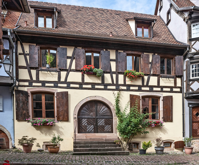 A half-timbered house in Eguisheim