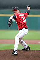 August 29 2008:  Pitcher Jeff Weaver of the Buffalo Bisons, Class-AAA affiliate of the Cleveland Indians, during a game at Dunn Tire Park in Buffalo, NY.  Photo by:  Mike Janes/Four Seam Images