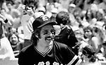 The Eagles 1978 Glenn Frey at Eagles vs Rolling Stone Mag softball game<br /> © Chris Walter