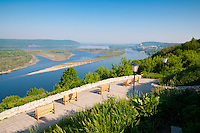 Observation Deck with the view to the Volga River, Zhiguli mountains and Zelenenky island