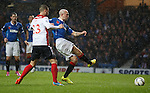 Nicky Law scores the opening goal for Rangers