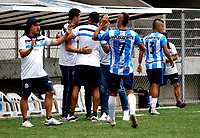 PIEDECUSTA - COLOMBIA, 11-09-2021: Real Santander y Barranquilla F. C. durante partido de la fecha 8 por el Torneo BetPlay DIMAYOR II 2021 en el estadio Villa Concha en la ciudad de Piedecuesta. / Real Santander and Barranquilla F. C. during a match of the 8th for the BetPlay DIMAYOR II 2021 Tournament at the Villa Concha stadium in Piedecusta city. / Photo: VizzorImage / Jaime Moreno / Cont.