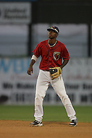 August 16 2009: Ronald Ramirez of the Lancaster JetHawks during game against the Bakersfield Blaze at Clear Channel Stadium in Lancaster,CA.  Photo by Larry Goren/Four Seam Images