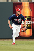 Memphis Redbirds outfielder Stephen Piscotty (33) during a game against the Oklahoma City RedHawks on May 23, 2014 at AutoZone Park in Memphis, Tennessee.  Oklahoma City defeated Memphis 12-10.  (Mike Janes/Four Seam Images)